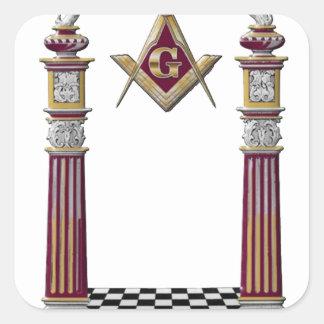 Adesivo Quadrado Colunas maçónicas