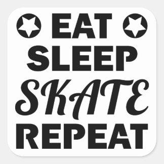 Adesivo Quadrado Coma a repetição do skate do sono, rolo Derby