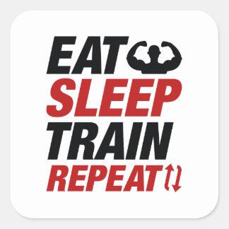 Adesivo Quadrado Coma a repetição do trem do sono