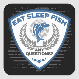 Adesivo Quadrado Coma peixes do sono toda a pesca das perguntas