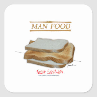 Adesivo Quadrado Comida do homem de Tony Fernandes - sanduíche do
