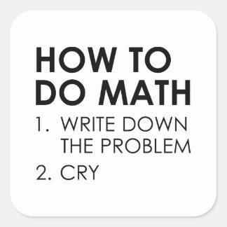Adesivo Quadrado Como fazer a matemática