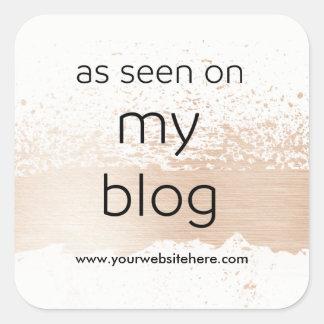 Adesivo Quadrado Como visto em minha exposição do blogue | seu