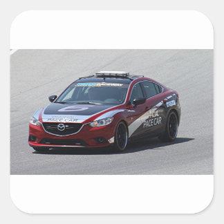 Adesivo Quadrado Competência de carro de esportes auto
