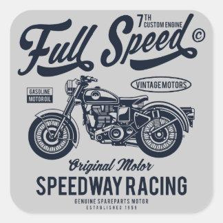 Adesivo Quadrado Competência do estrada da velocidade máxima