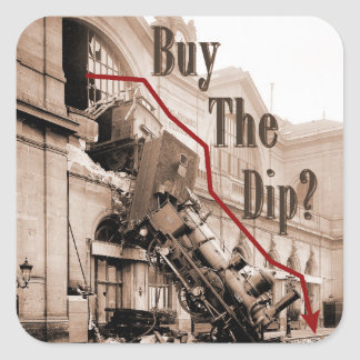 Adesivo Quadrado Compre o humor do mercado de valores de acção do