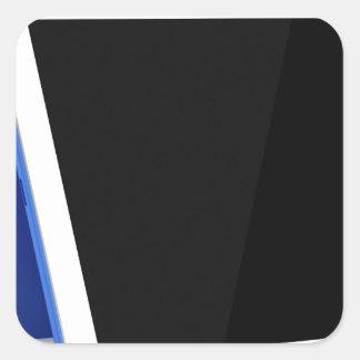 Adesivo Quadrado Computador da tabuleta no branco