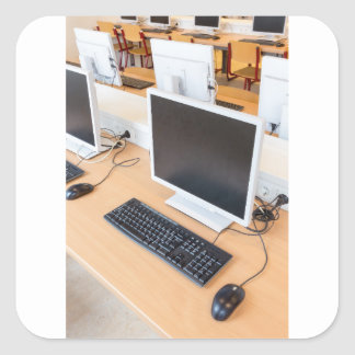 Adesivo Quadrado Computador de secretária na classe do computador