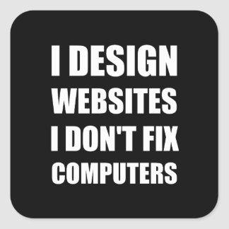 Adesivo Quadrado Computadores do reparo dos Web site do design não