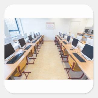 Adesivo Quadrado Computadores na sala de aula da educação holandesa