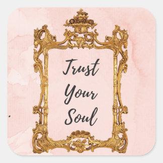 Adesivo Quadrado Confie sua alma