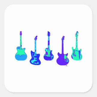 Adesivo Quadrado Conjunto da guitarra