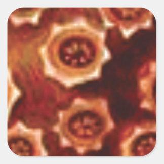 Adesivo Quadrado conjunto de flor vermelho
