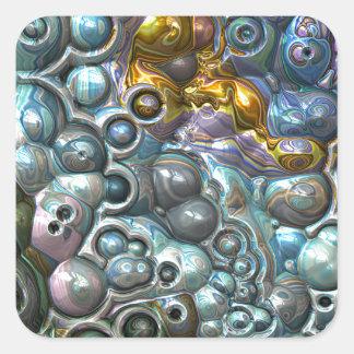 Adesivo Quadrado Conjuntos 3D coloridos