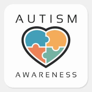 Adesivo Quadrado Consciência do autismo