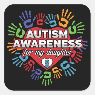 Adesivo Quadrado Consciência do autismo para minha filha