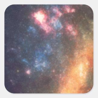 Adesivo Quadrado Cor galáctica abstrata da nuvem da nebulosa