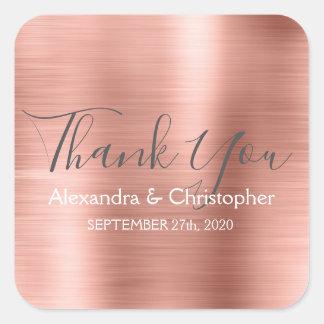 Adesivo Quadrado Cora o obrigado   cor-de-rosa cor-de-rosa do favor