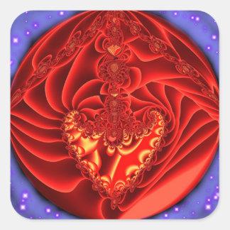 Adesivo Quadrado Coração da matéria