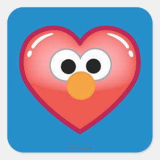 Adesivo Quadrado Coração de Elmo