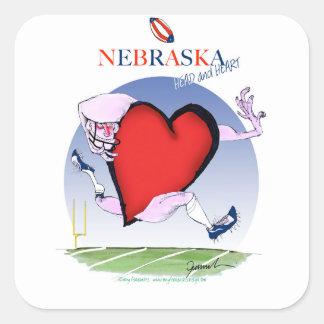 Adesivo Quadrado coração principal de nebraska, fernandes tony