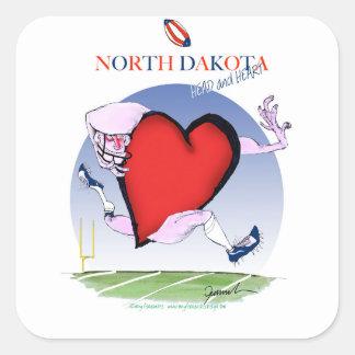 Adesivo Quadrado coração principal de North Dakota, fernandes tony