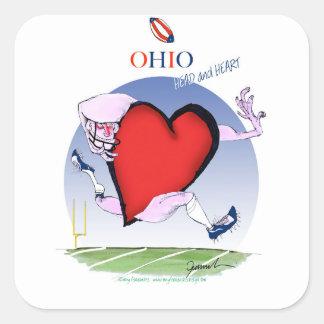Adesivo Quadrado coração principal de ohio, fernandes tony