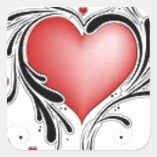 Adesivo Quadrado Corações