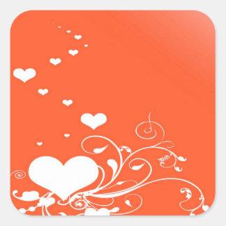 Adesivo Quadrado Corações dos namorados