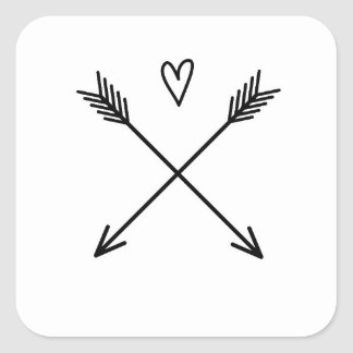 Adesivo Quadrado Corações & setas
