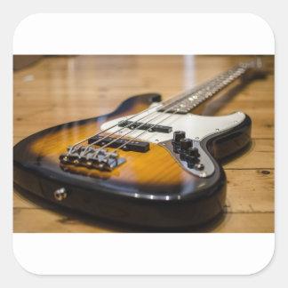 Adesivo Quadrado Cordas baixas baixas do instrumento da guitarra