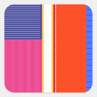 Adesivo Quadrado Cores corajosas, design gráfico da multa