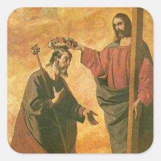 Adesivo Quadrado Coroação de St Joseph por Jesus