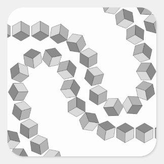Adesivo Quadrado Corrente de bloco