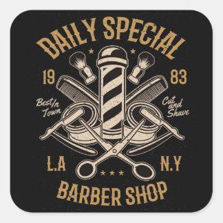 Adesivo Quadrado Corte e Shave especiais diários do LA NY da