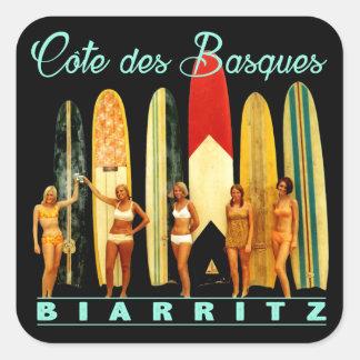 Adesivo Quadrado Costa dos Basco Biarritz