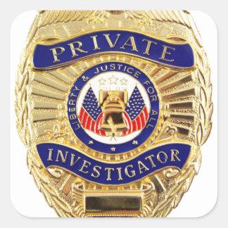 Adesivo Quadrado Crachá do investigador privado