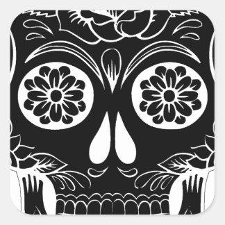 Adesivo Quadrado Crânio abstrato