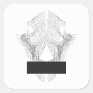 Adesivo Quadrado Crânio abstrato do urso