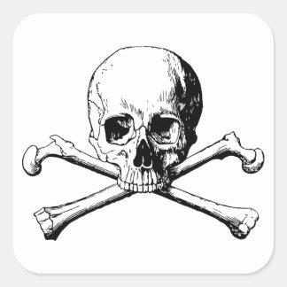 Adesivo Quadrado Crânio dos Crossbones