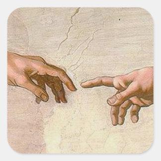 Adesivo Quadrado Criação de Michelangelo de Adam