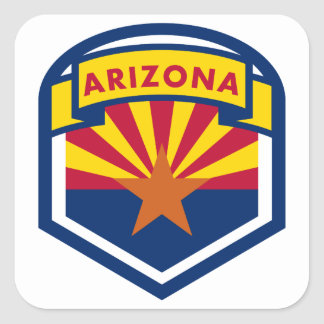 Adesivo Quadrado Crista da bandeira do estado da arizona