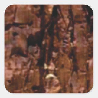Adesivo Quadrado crumble marrom da rocha