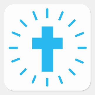 Adesivo Quadrado Cruz do Jesus Cristo
