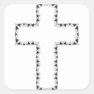 Adesivo Quadrado Cruz do Natal