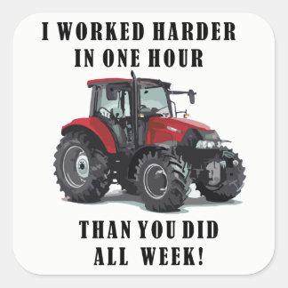 Adesivo Quadrado Cultivando citações do trabalho duro