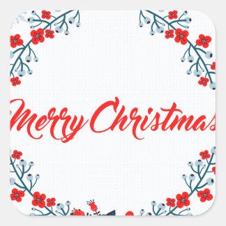 Adesivo Quadrado cumprimento do Natal do Feliz Natal