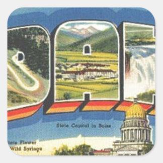Adesivo Quadrado Cumprimentos de Idaho