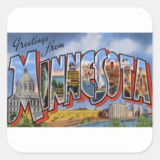 Adesivo Quadrado Cumprimentos de Minnesota