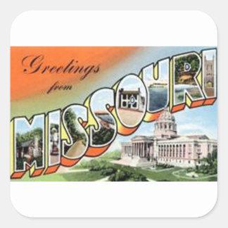 Adesivo Quadrado Cumprimentos de Missouri